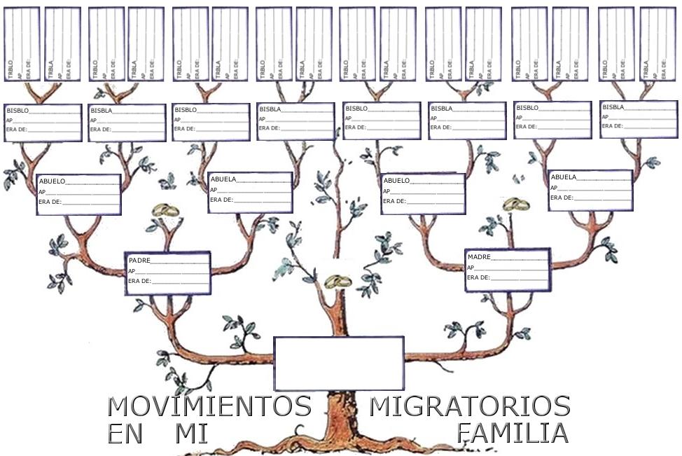 DATOS  DE LOS MOVIMIENTOS MIGRATORIOS DE MI FAMILIA.   1º En ...